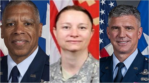 Brigadier General David Hamlar, Brigadier General Johanna Clyborne and Brigadier General Greg Haase (Courtesy photos)