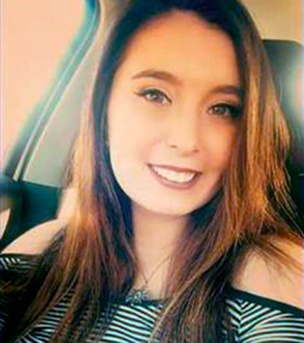 This undated file photo released by the Fargo Police Department shows Savanna LaFontaine-Greywind, who disappeared and was last seen at her apartment in Fargo, N.D., on Saturday, Aug. 19, 2017. Fargo Police Chief David Todd told a news conference Sunday, Aug. 27, 2017, that the body of Greywind, who was eight months pregnant, was found in a river Sunday evening. (Fargo Police Department via AP, File)