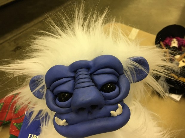 A handmade yeti doll with a polymer face and wild fur snagged a blue ribbon at the Minnesota State Fair's Creative Activities building, on Tuesday, Aug. 15, 2017. (Lisa Legge / Pioneer Press)