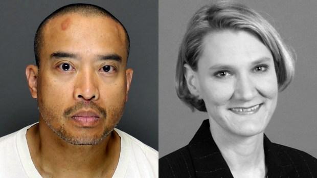 Lucifer Vincent Nguyen and Beverly Cory (Nguyen photo courtesy of Dakota County sheriff's office; Cory photo courtesy of Edward Jones)