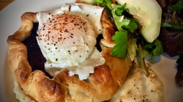 Savory hand pie at Tillie's Farmhouse in St. Paul, photographed Aug. 3, 2017. (Nancy Ngo / Pioneer Press)