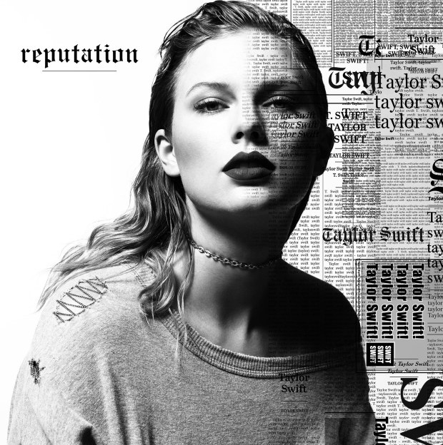 "The cover art for ""Reputation,"" Taylor Swift's sixth album, which is due out Nov. 10. (Courtesy of Big Machine Label Group)"