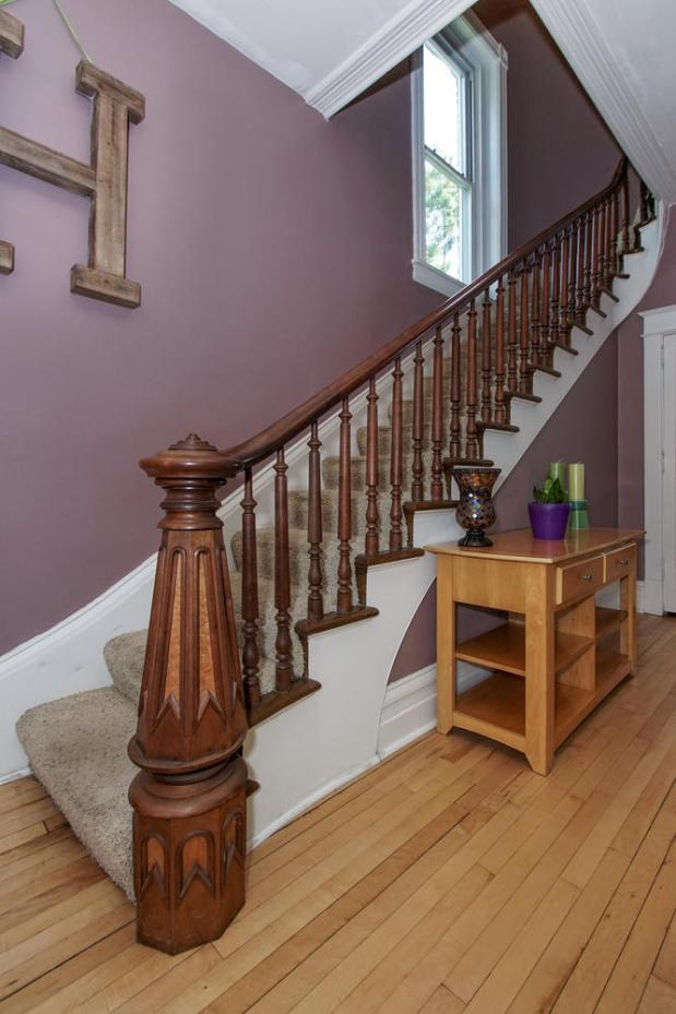 The staircase at 1010 Oakdale Ave. in West St. Paul. (Boulevard Real Estate Photography)