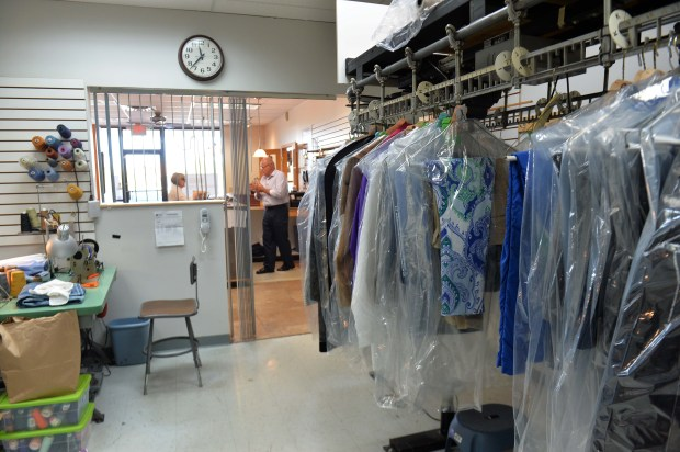"Gary Steinhouse, who has run Cedarvale Tailors in Eagan since 1980, is closing down the shop at the end of the month, photographed Thursday, Sept. 21, 2017. Steinhouse, 66, simply says ""it's time."" The business, located in the Shoppes of Cedar Grove strip mall, used to be in the old Cedarvale Mall, where the outlet mall now stands. (Scott Takushi / Pioneer Press)"