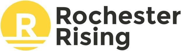 Rochester Rising logo with minimum white padding