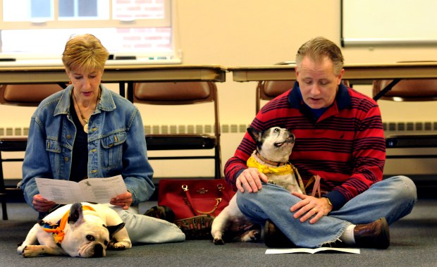 The Blessing of the Animals has become an annual religious ceremony where animal owners bring their pets yearly. A blessing was conducted by Associate pastors,  Javen Swanson and Lois Pallmeyer at Gloria Dei Lutheran Church on Snelling Ave. in Highland Park on Sunday, October 1, 2017.  (Ginger Pinson / Pioneer Press)