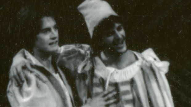 """Kyle MacLachlan, left, and Joseph Haj in a 1987 production of """"Romeo and Juliet."""" (Courtesy PlayMakers Reperatory)"""