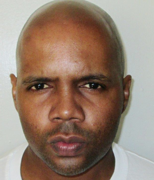 This undated photo released by the Alabama Department of Corrections shows Alabama inmate Torrey Twane McNabb, who was convicted in the 1997 shooting death of Montgomery police Officer Anderson Gordon two decades ago. The Alabama attorney general's office plans to ask justices to lift a stay blocking the Thursday, Oct. 19, 2017, scheduled execution of 40-year-old McNabb. (Alabama Department of Corrections via AP)