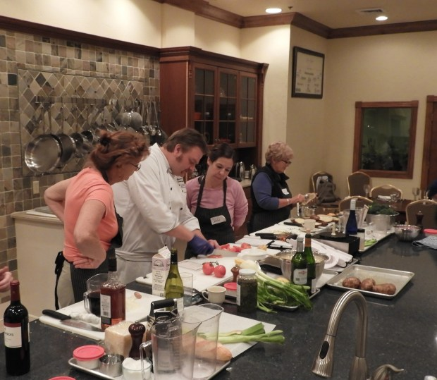 Chef Benjamin Sommerfeldt instructs students on the finer points of French cuisine done Wisconsin-style. (William M. Gurstelle)