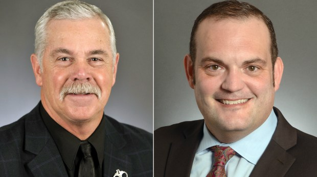 Rep. Tony Cornish, R-Vernon Center, and State Sen. Dan Schoen, DFL-Cottage Grove. (Courtesy photos)