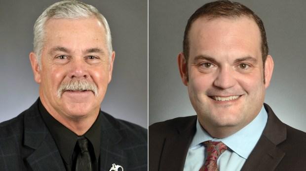Rep. Tony Cornish, R-Vernon Center, and State Sen. Dan Schoen, DFL-Cottage Grove