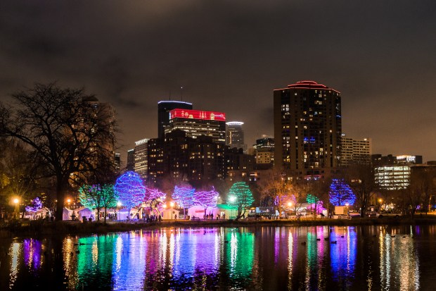 Holidazzle lights up Loring Park in Minneapolis. (Erin Smith Photography)