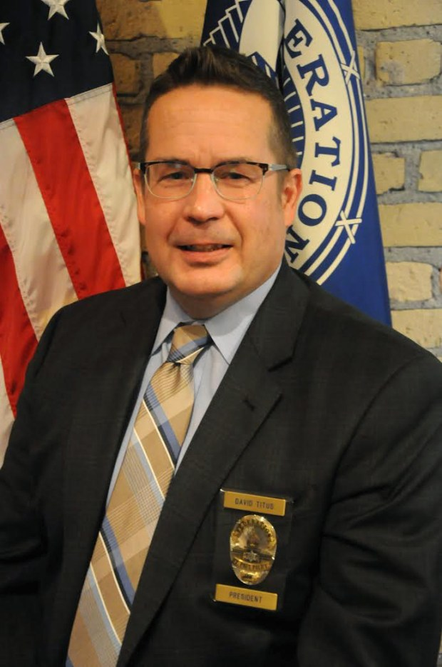 Dave Titus, president of the St. Paul Police Federation, 2017.Photo courtesy of Dave Titus.