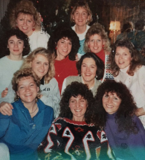 Debra Hurtle and friends gather for a cookie exchange. (Courtesy of Debra Hurtle)