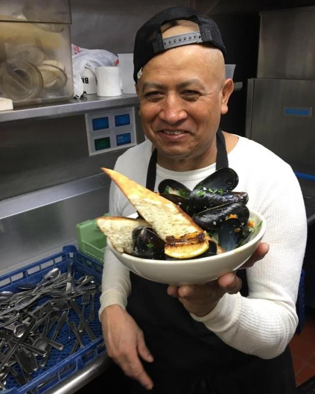 Jose Hernandez, 52, shown at Brasa in St. Paul where worked as a dishwasher. (Courtesy of Brasa)