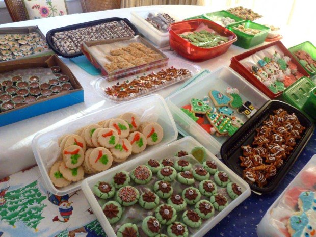 Mary Berglund sent this photo of some of her 2016 holiday cookies. She and her family made some 100 dozen, to share with family, neighbors and friends. (Courtesy of Mary Berglund)