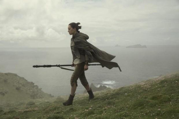 "Daisy Ridley in ""Star Wars: The Last Jedi."" (Lucasfilm Ltd.)"