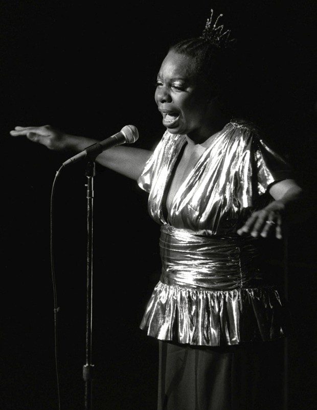 In this June 27, 1985, photo, Nina Simone performs at Avery Fisher Hall in New York. Simone will be inducted into the Rock and Roll Hall of Fame on April 14, 2018 in Cleveland, Ohio. The jazzy and soulful Simone, who died in 2003, was an activist in the Civil Rights Movement and influenced the likes of Alicia Keys and Aretha Franklin. (AP Photo/Rene Perez)