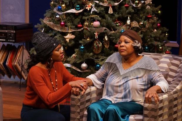 Dame-Jasmine Hughes and Cynthia Taylor-Jones (Photo by Petronella J Ytsma)