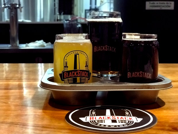 BlackStack Brewing in St. Paul. Photographed Dec. 8, 2017. (Nancy Ngo / Pioneer Press)
