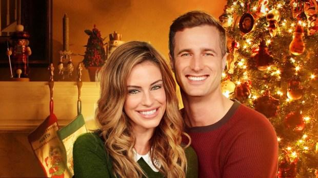 """Magical Christmas Ornaments,"" a Hallmark Christmas movie, stars Jessica Lowndes and Brendan Penny. (Hallmark)"