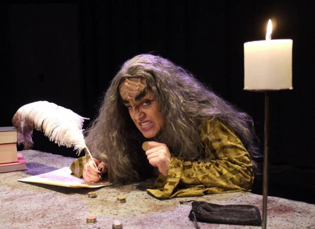 "Lana Rosario is SQuija' in ""A Klingon Christmas Carol."" (Photo by Aaron Coker)"