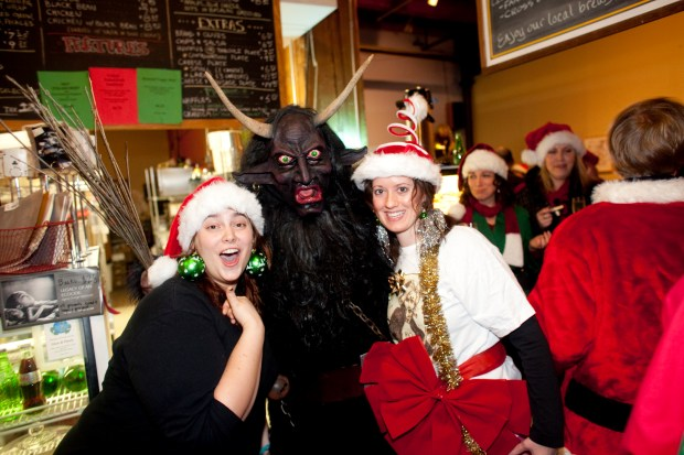 Krampus is a little bit scary. (Photo by James Ramsay)