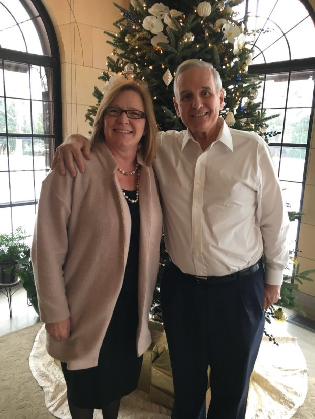 Minnesota state Sen. Michelle Fischbach, R-Paynesville, and Gov. Mark Dayton pose for a photo after having lunch together in the Governor's residence Friday, De. 15, 2017. As president of the Senate, Fischbach stands poised to become lieutenant governor when Lt. Gov. Tina Smith is appointed to replace U.S. Sen. Al Franken, who is resigning. (Courtesy photo)