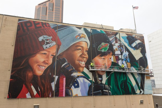 Minnesota Wild practice rink mural