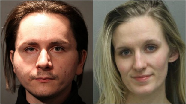Ryan Reiersgaard of Burnsville and Katie Mager of Apple Valley were arrested on charges of false report after telling Chicago police they had been robbed at knifepoint early Dec. 7, 2017. (Courtesy of Chicago Police Department)