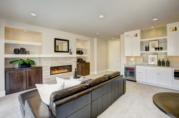 Include a minifridge and cabinet space in your bonus room to save trips to the kitchen.