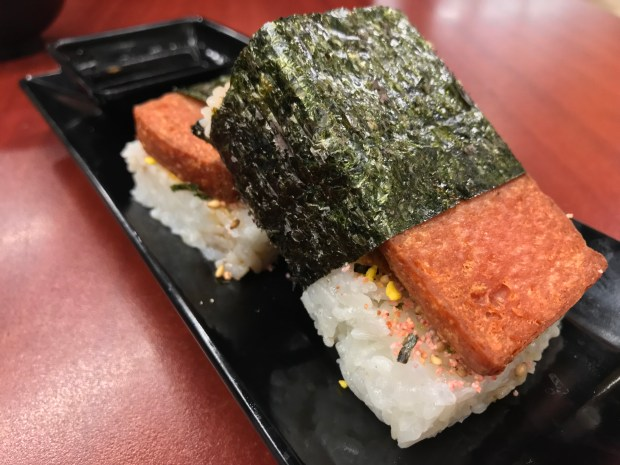 SPAM Musubi at Unideli in United Noodles Market in Minneapolis. (Nancy Ngo / Pioneer Press)