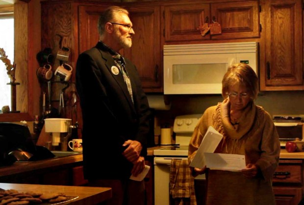Jerry and Patty Wetterling prepare to address the media at their St. Joseph, Minn. home on Nov. 3, 2015, just days after Danny Heinrich was named a person of interest in the October 1989 disappearance of their 11-year-old son Jacob. (Courtesy of Dan Stewart / Chris Newberry Productions)