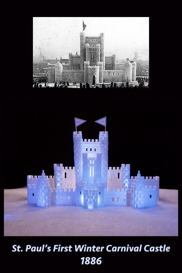 Andrea Wambold's sugar-cube replica the first St. Paul Winter Carnival Ice Palace of 1886. The Eagan crafter said a key to authentic-looking walls is using half sugar cubes to achieve the staggered-block effect.
