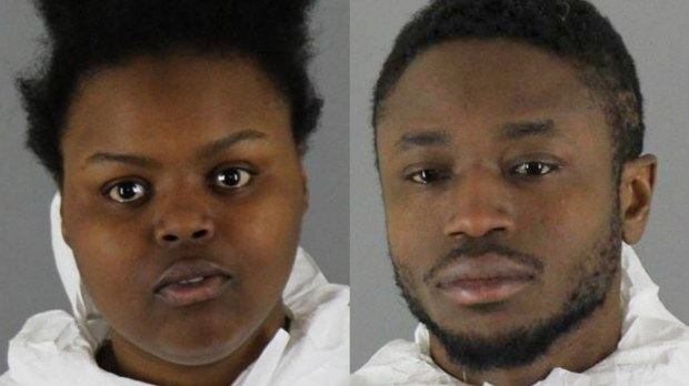 Kia Joyce Johnson-Gordon, left, and Jermaine Cameron Taylor
