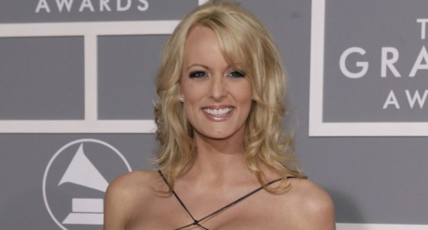 In this Feb. 11, 2007, photo, Stormy Daniels arrives for the 49th Annual Grammy Awards in Los Angeles. President Donald Trump's personal attorney says he paid $130,000 out of his own pocket to a porn actress who allegedly had a sexual relationship with Trump in 2006. Michael Cohen tells The New York Times he was not reimbursed by the Trump Organization or the Trump campaign for the payment to Stormy Daniels, whose real name is Stephanie Clifford. (AP Photo/Matt Sayles)