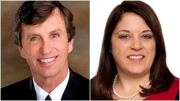 Republican Denny McNamara and Democrat Karla Bigham