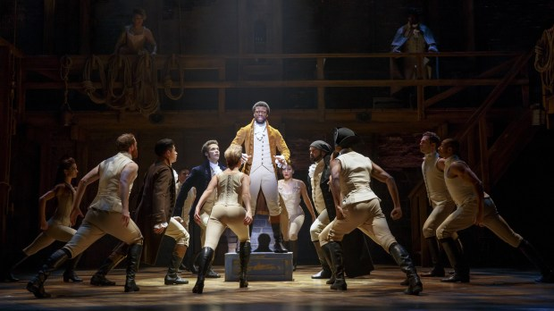 "The national touring company of ""Hamilton."" (Photo by Joan Marcus)"