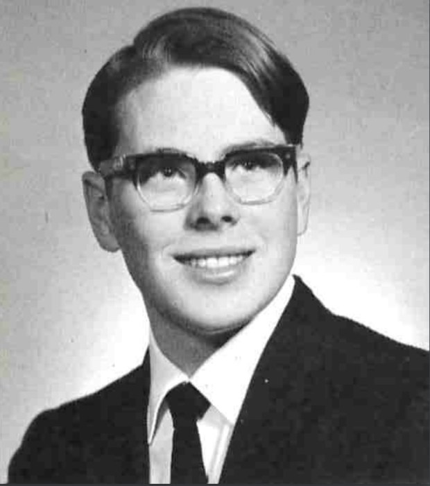 Mark C. Nyman, in his senior year at Hill-Murray School. Nyman graduated in 1969. (Courtesy of Amy Gutknecht)