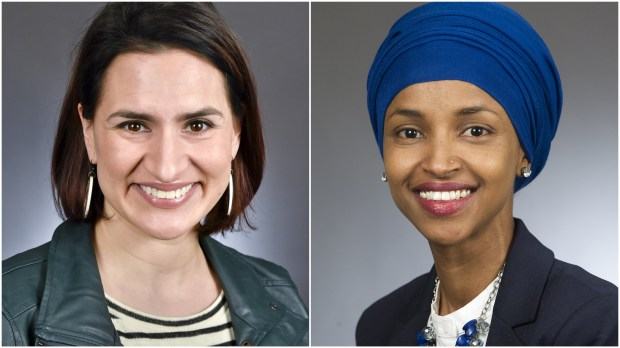 Reps. Peggy Flanagan and Ilhan Omar