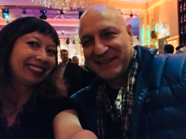Selfie with Top Chef's Tom Colicchio. Photographed Friday, Jan. 2, 2018. (Nancy Ngo / Pioneer Press)