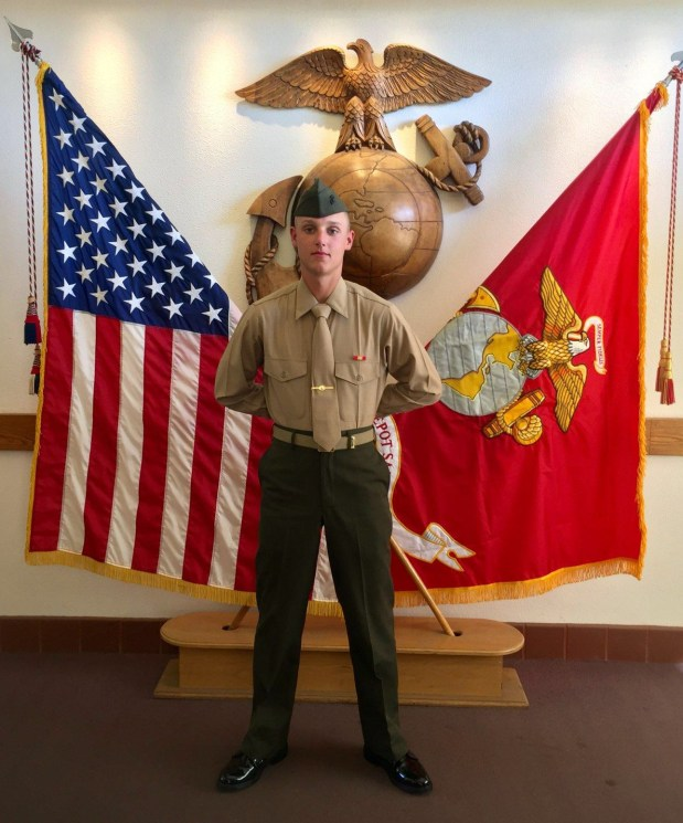 Thomas Doyle, 19, of St. Paul pictured in San Diego on Mar. 1, 2018. He graduated from U.S. Marine Corps boot camp on Mar. 2, 2018. (Courtesy of Carrie Doyle)