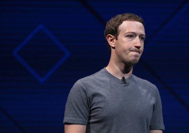 Facebook CEO Mark Zuckerberg delivers the keynote address at Facebook's F8 Developer Conference on April 18, 2017 at McEnery Convention Center in San Jose, California. The conference will explore Facebook's new technology initiatives and products. (Photo by Justin Sullivan/Getty Images)