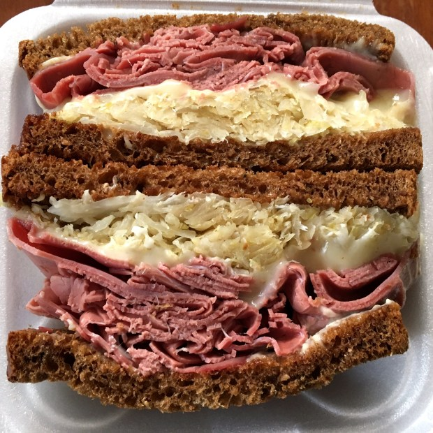 Reuben from Nelson's Cheese and Deli. Shot in February 2018. (Jess Fleming / Pioneer Press)