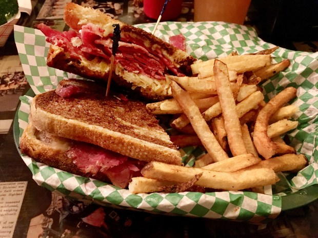 Reuben from Shamrock's on West Seventh St., March 6, 2018. (Jess Fleming / Pioneer Press)