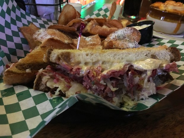 This is the Reuben at The Dubliner on University Avenue in St. Paul. Shot March 8, 2018. (Jess Fleming / Pioneer Press)