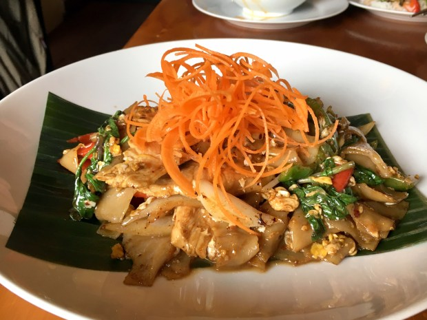 Pad Kee Mao is seen at Mango Thai in St. Paul in April, 2018. (Jess Fleming / Pioneer Press)