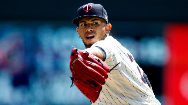 Minnesota Twins pitcher Fernando Romero throws against the Toronto Blue Jays in a baseball game Wednesday, May 2, 2018, in Minneapolis. (AP Photo/Jim Mone)