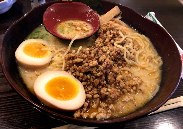Tantan Ramen from Ramen Station in Woodbury, May 2018. (Jess Fleming / Pioneer Press)