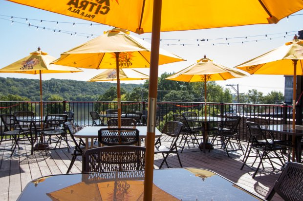 The second-deck patio at Portside in downtown Stillwater overlooks the St. Croix River. (Courtesy Portside)